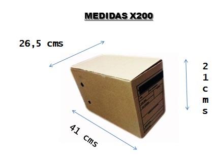 caja x200 medidas